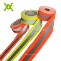 EN471 HI VIS Fire Retardant Fireproof Fluorescent Lime Yellow Reflective Fabric Tape
