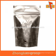 Stand up shape aluminum tea bag with high quality custom print