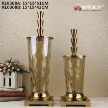 Wedding favor curio shelve decoração vaso de vidro flor titular