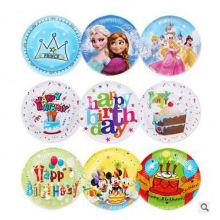 Artigos para festa para crianças Placas personalizadas descartáveis Placas de folhas de palmeira, papel retangular Matérias-primas