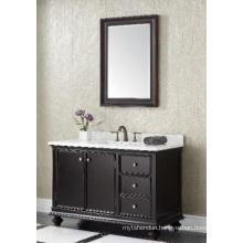 Wooden One Main Cabinet Mirrored Modern Bathroom Cabinet (JN-8819716C)
