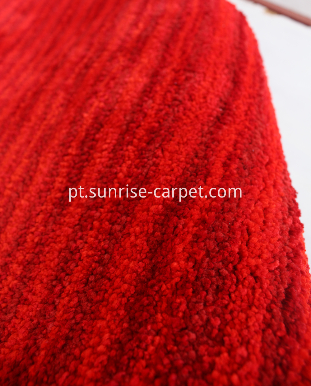 microfiber shaggy with design short pile red