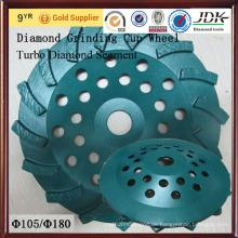Für Betonschleifen Turbo Segment Diamant Schleifen Schale Rad