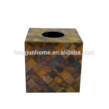 Produit de coquillage Caisse de plume côtés complets Caisse de tissu carré pour les paramètres de l'hôtel