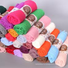 Горячая распродажа запаслись 75 цвет шали шарф Исламская мусульманских женщин хлопок премиум закручиваются извилиной хиджаб