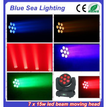 7x15W RGBW 4in1 led moving head wedding decoration and fairy lights