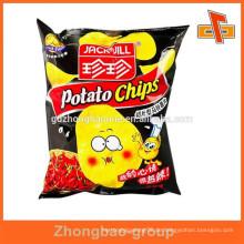 Snack-Verpackungen kundenspezifische Kartoffel-Chip-Folienbeutel mit Heißsiegel