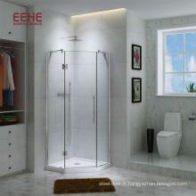 Cabine de douche de luxe pour sauna avec verre dépoli et accessoire