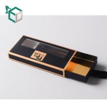 Caixa de presente magnética de aço invisível feita sob encomenda da pestana