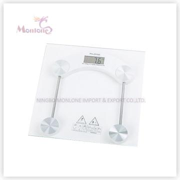 Escala de peso eletrônica quadrada de vidro de 2.5kg-150kg (30 * 30)