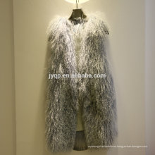 Venta al por mayor Tibetan Mongolian Soft Hair Real Fur Lamb Vest
