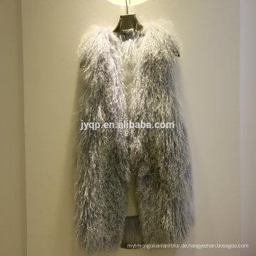 Tibetanisches mongolisches weiches Haar-wirkliche Pelz-Lamm-Weste