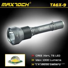 Maxtoch TA6X-9 Cree T6 linterna policía Super brillante LED linterna