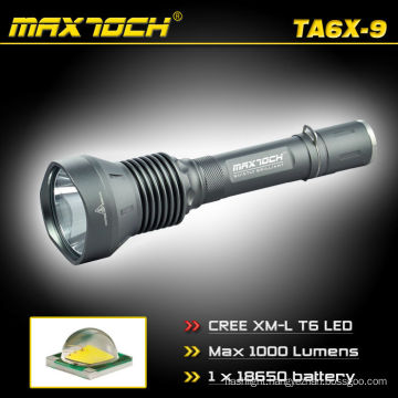 Maxtoch TA6X-9 Cree T6 Torch Super Bright Police LED Flashlight