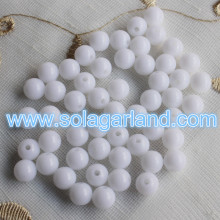 6-30MM Acrylic Round White Loose Spacer Beads For Sale In Bulk