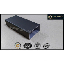 Aluminum Rectangle Tube Profile with Anodized Black Color Matt