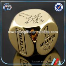 6-seitige Metallwürfel, kundenspezifische Metallwürfel, 16mm Metallwürfel