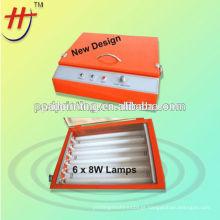 Mini luz UV fácil operar unidade de exposição de vácuo para a placa de polímero de tela