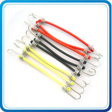 Custom Colorful Elastic Bungee with Metal Hook for Go Hiking