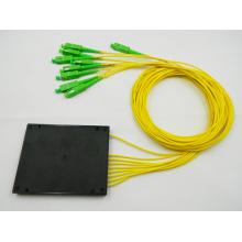 1x8 SC / APC Kasten plc Faser optischer Splitter / Koppler mit 2.0mm Faserkabel