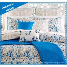 Mosaic Snowflake Design Printed Polycotton Duvet Cover Set