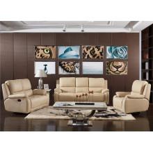 Sofá de sala com sofá de couro genuíno moderno (768)