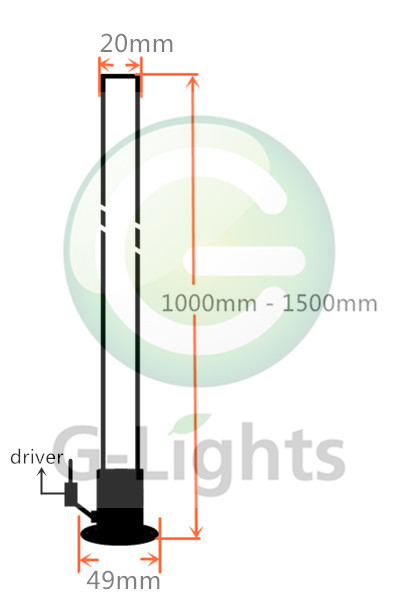 Fiber optic glow stick