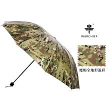Jefe de guerra 25 pulgadas militar al aire libre a prueba de viento paraguas plegable en Camo