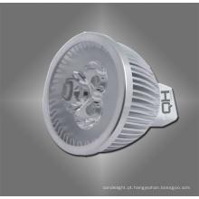 Lâmpadas LED MR16 3W com longa vida útil