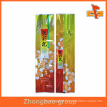 Zurück Central Seal Kunststoff Verpackung Tee Pack Tasche für chinesischen Jasmin Tee