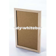 fabric pin board wooden frame
