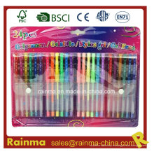 24PCS Gel Tinta Pet Set para la escuela y Oficina