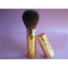 Golden Handle cabelo macio Cuidados com a pele escova de base pincel retrátil