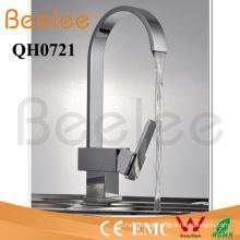 Neue Oblated Goose Neck Single Handle Anzahl der Griffe Messing Chrom Küche Wasserhahn Mischer Wasserhahn