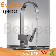 New Oblate Goose Neck Single Handle Number of Handles Brass Chrome Kitchen Water Tap Mixer Faucet