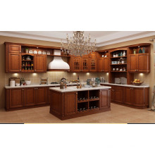 Cherry Solid Wood Kitchen Cabinet with Standard Sizes (Guangzhou factory)
