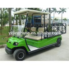 Le CE a approuvé le véhicule électrique d'utilité de ferme de 2 places, le chariot de golf de boîte de cargaison d'acier