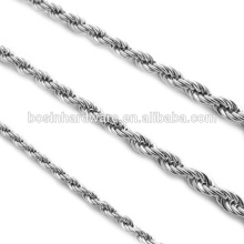 Fashion High Quality Metal Silver Rope Chain