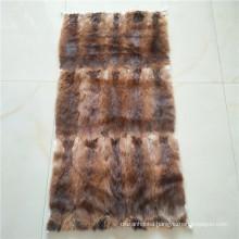 China fur Factory price wholesale high quality 60x120cm fur pelt skin natural brown Muskrat fur plate