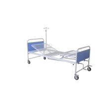 Dos manivelas manual de la cama de la cama de hospital de la red