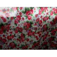 floral Printed Satin Fabric for Fashion Dress customize-made