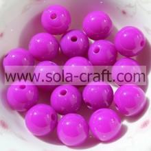 Heiße Art Nizza Runde Acryl 6 MM Dark Purple Kunststoff Handgefertigte Neueste Perlen Auf Lager