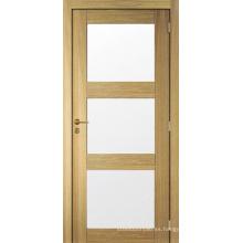 Panel de coctelera de diseño nuevo Puerta de vidrio preinstalada de puerta de madera