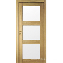 New Design Shaker Panel Pre-Hung Wood Door Glass Door