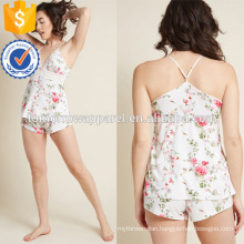 Multicolored Printed Lace V-Neck Spaghetti Strap Pajamas Manufacture Wholesale Fashion Women Apparel (TA0001P)