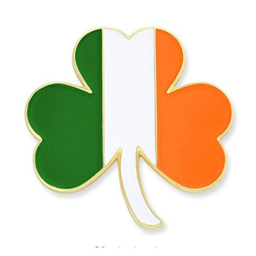 Ireland Flag Shamrock Enamel Lapel Pin