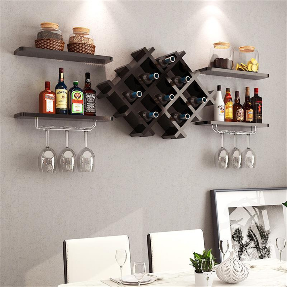 wooden shelf hanging