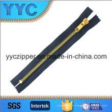 # 5 Sacs à glissière en métal doré Zipper avec curseur Auto-Lock