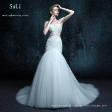 ZXB21 Труба свадебные платья тюль кнопка длиной до пола длинное платье платье vestidos де Лонго Церковь Свадебные