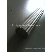 6061 & 6063 extrusion d'aluminium cercle creux moleté profil
